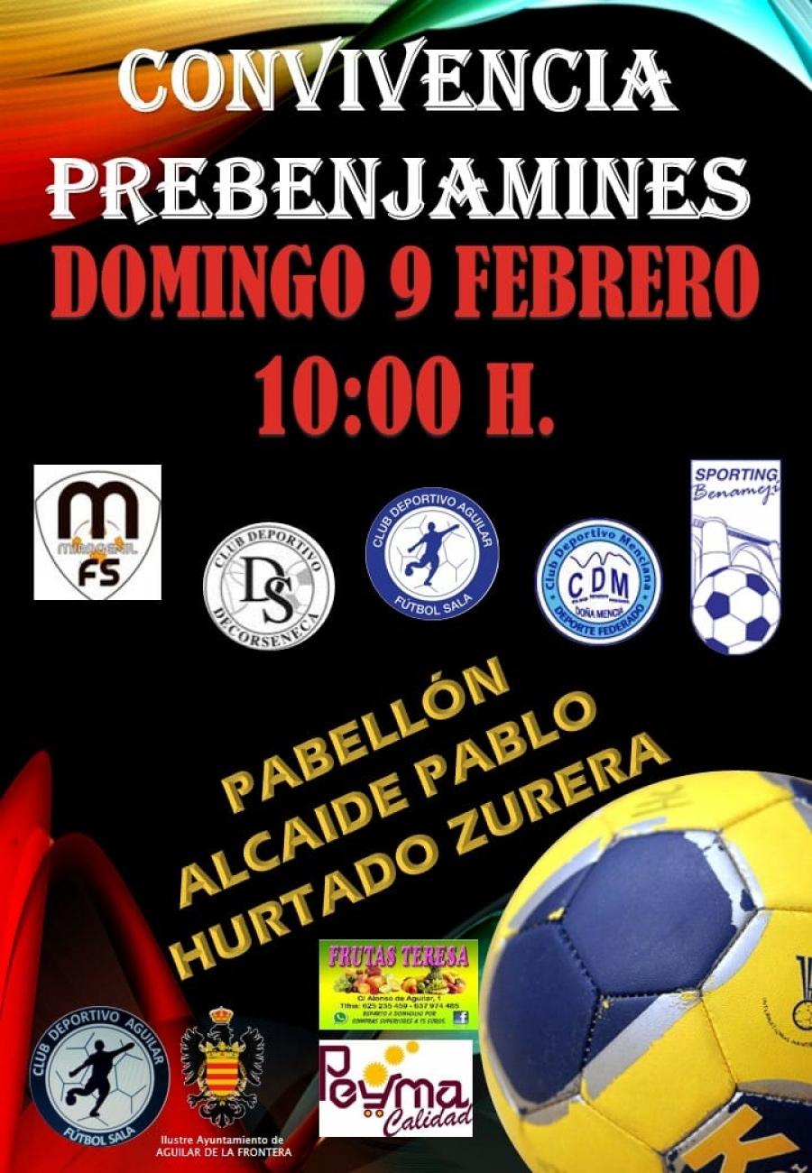 El CD Aguilar FS organiza una convivencia de PreBenjamines para este domingo