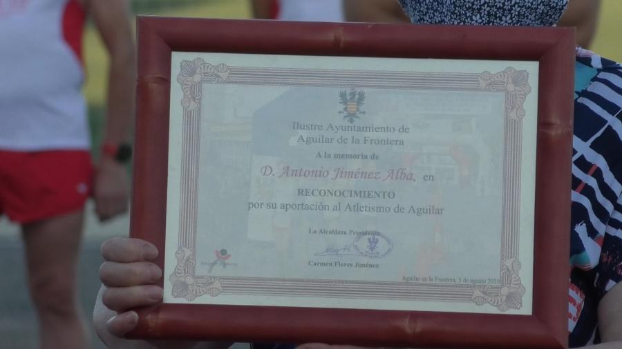 El recuerdo hacia Antonio Jiménez Alba va más allá de una simple carrera