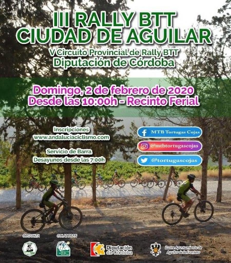 El III Rally BTT Ciudad de Aguilar se celebrará el próximo 2 de febrero
