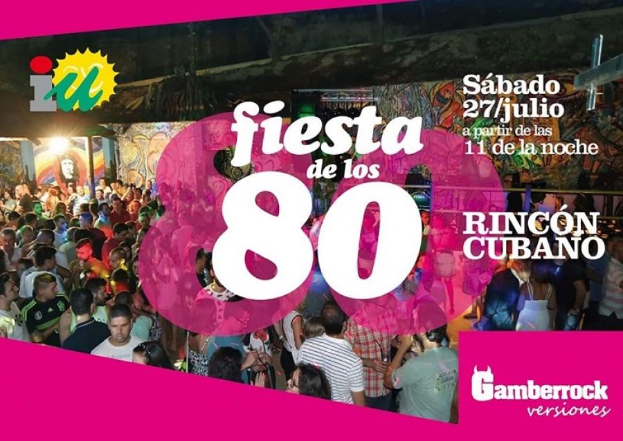 Este sábado será la Fiesta de los 80 en el Rincón Cubano
