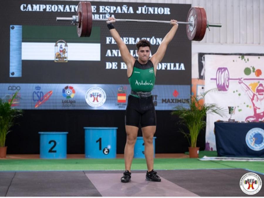 Manuel Jesús Zurera logra un meritorio cuarto puesto en el Campeonato de España Júnior de Halterofilia