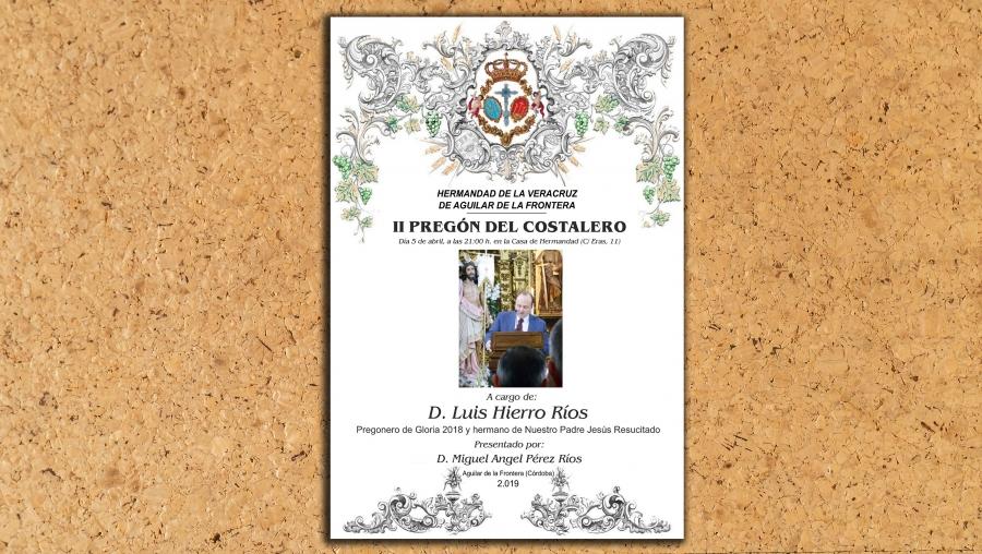 Luis Hierro realizará el II Pregón del Costalero