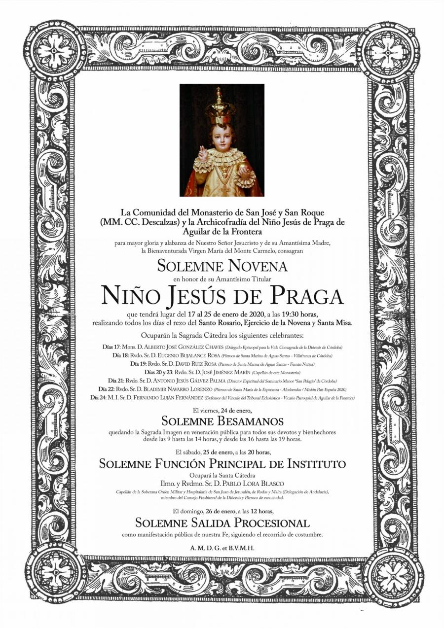 Comienzan los cultos en honor al Niño Jesús de Praga