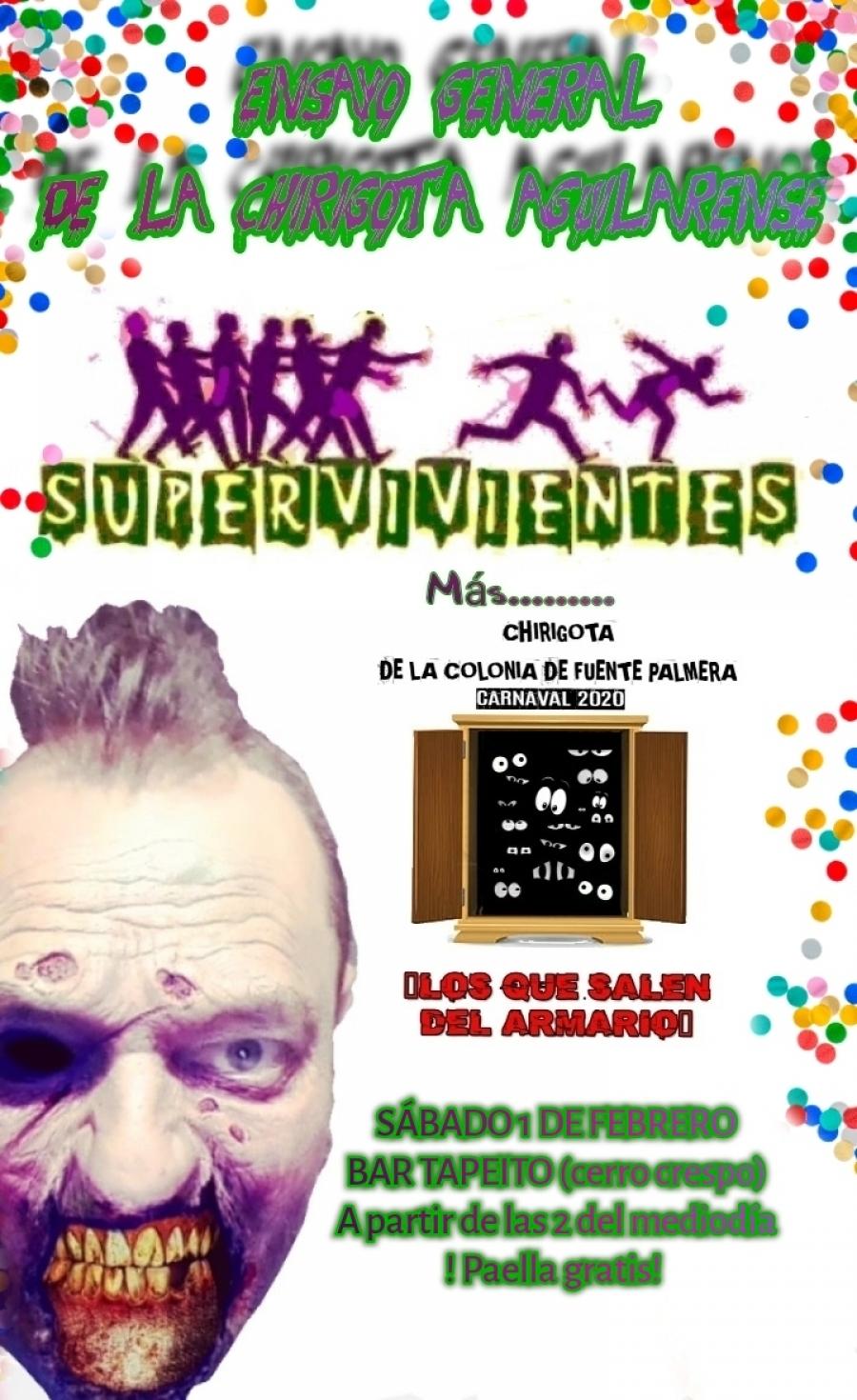 """La chirigota aguilarense """"Supervivientes"""" se presentará el 1 de febrero en el Cerro Crespo"""