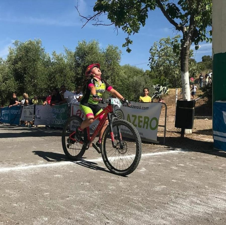 Ainhoa Mediavilla, del club MTB Tortugas Cojas, campeona de Andalucía BTT