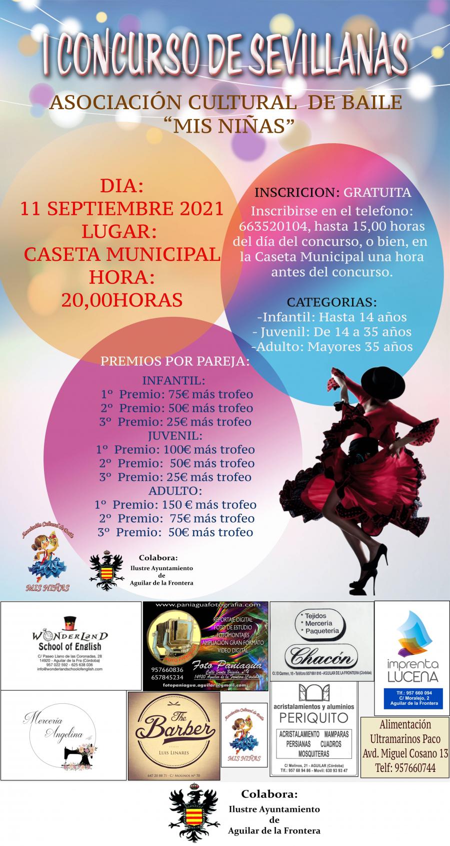 """La Asociación Cultural de Baile """"Mis Niñas"""" organiza su I Concurso de Sevillanas"""