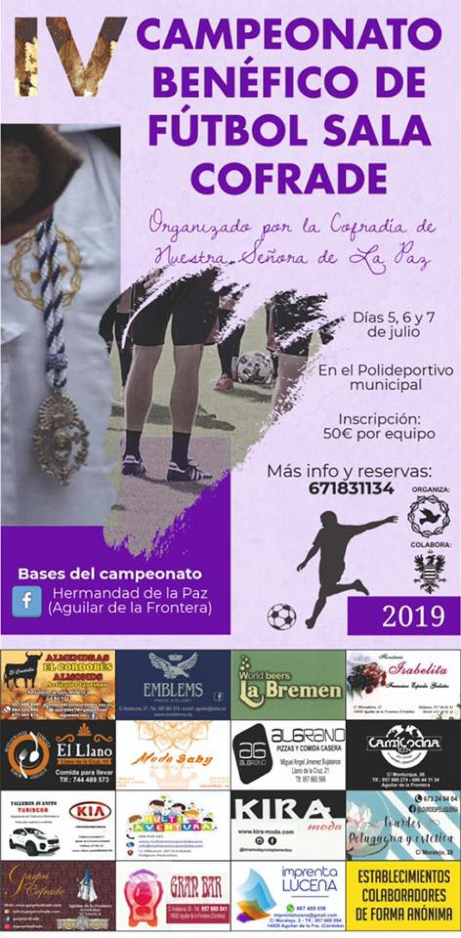 Este fin de semana se celebrará el IV Campeonato Benéfico de Fútbol Sala Cofrade