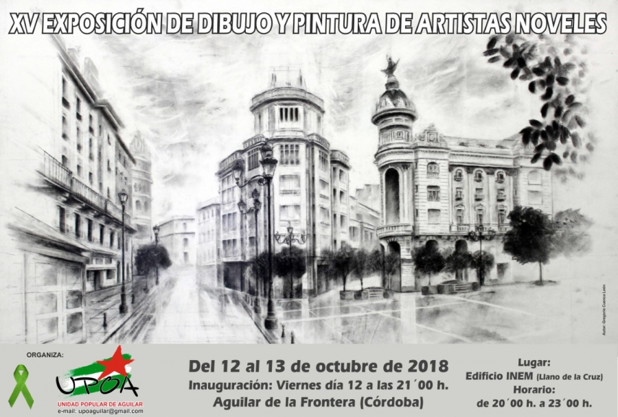 UPOA organiza la XV exposición de dibujo y pintura de artistas noveles