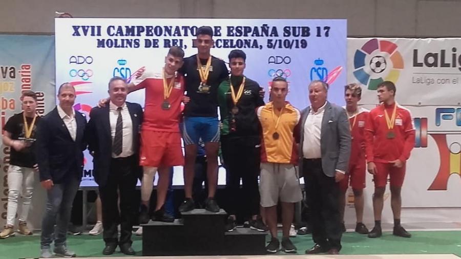El haltera Manuel Jesús Zurera consigue dos bronces en el Campeonato de España Sub 17