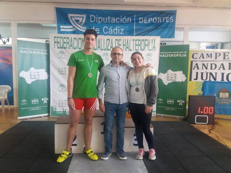 Manuel Jesús Zurera y Laura Barba, oro y bronce en el Campeonato de Andalucía Júnior