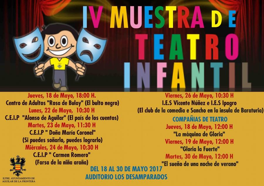 Comienza la IV Muestra de Teatro Infantil