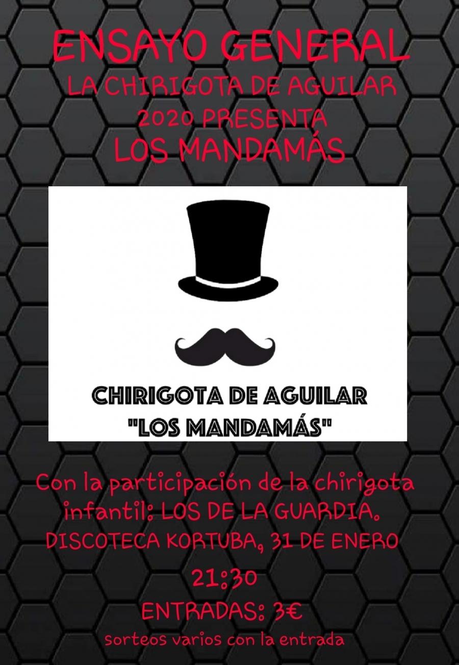 """El ensayo general de la chirigota aguilarense """"Los Mandamás"""" será el próximo 31 de enero"""