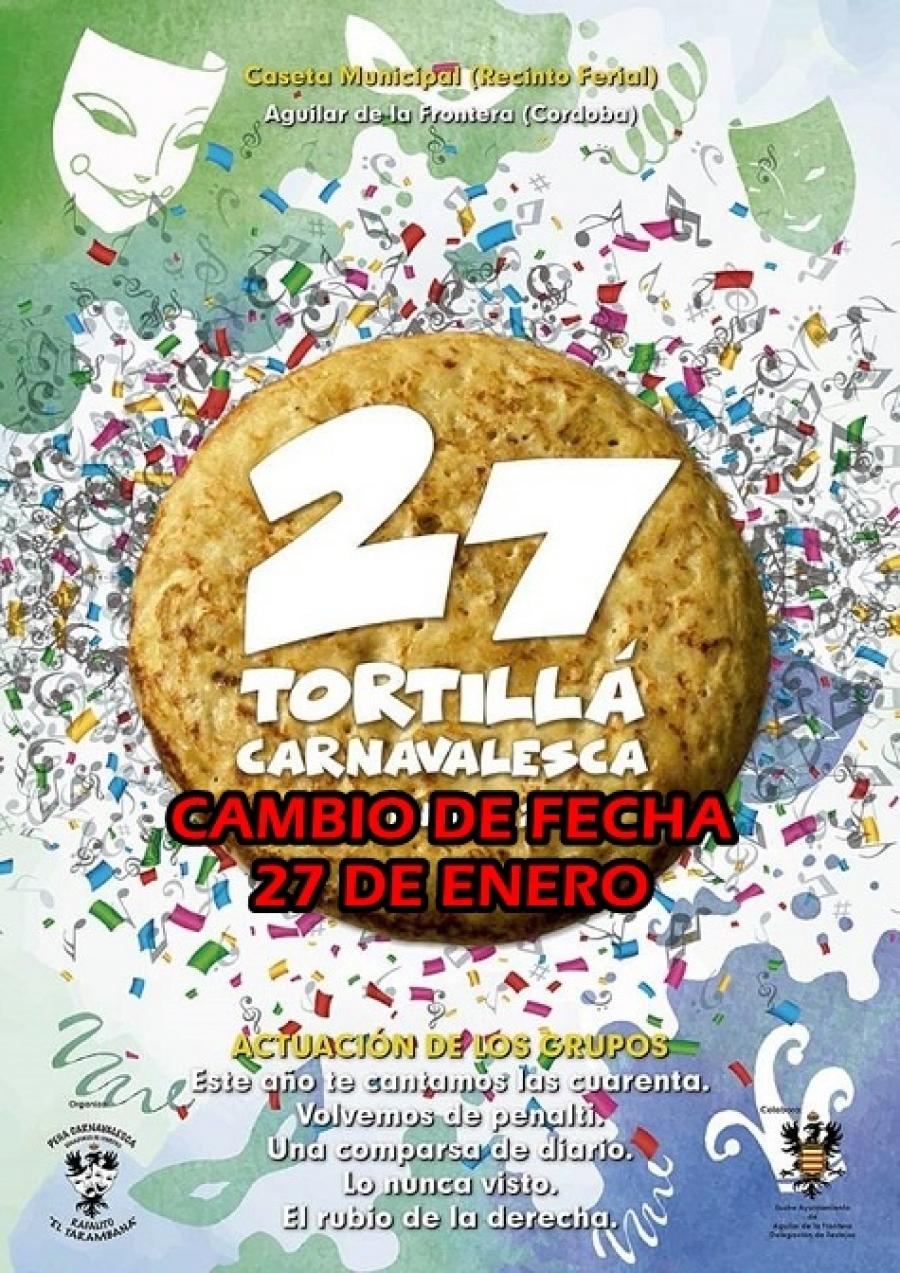 Cambio de fecha de la XXVII Tortilla Carnavalesca