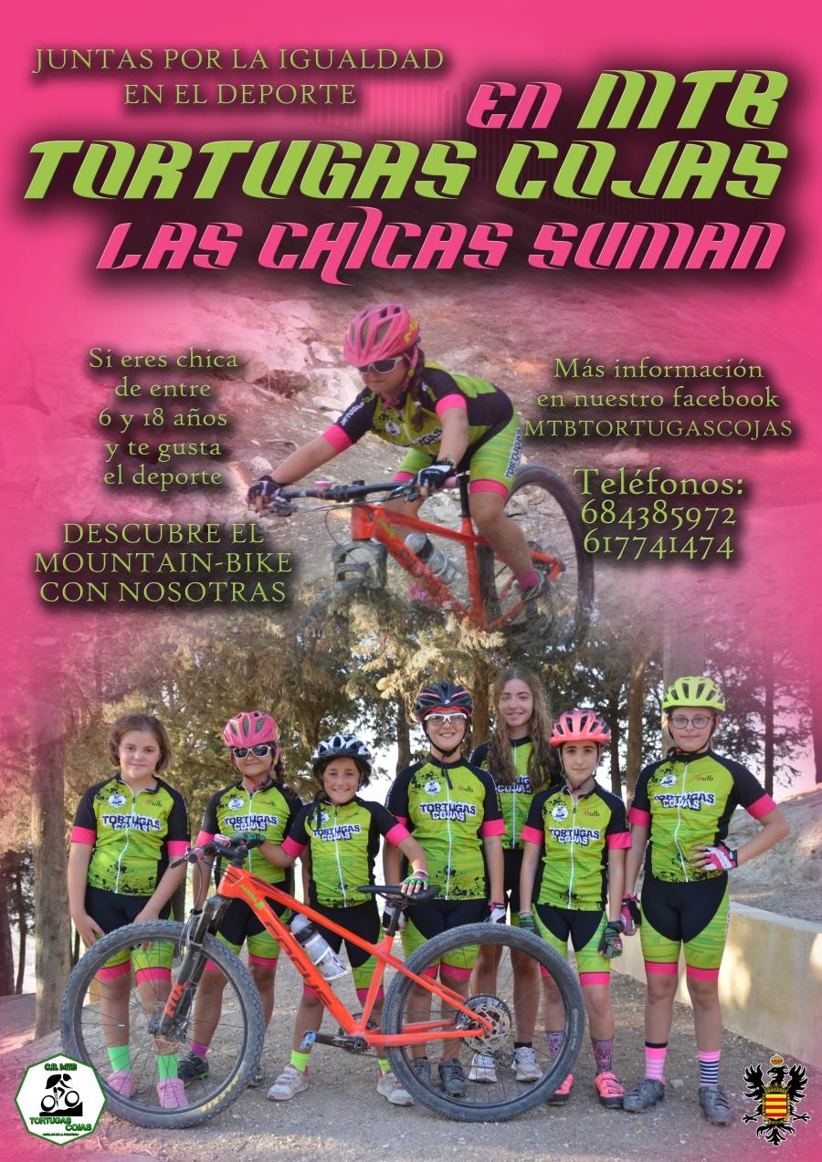 """El Club MTB Tortugas Cojas lanza la campaña """"Juntas por la Igualdad en el Deporte. Las chicas suman"""""""