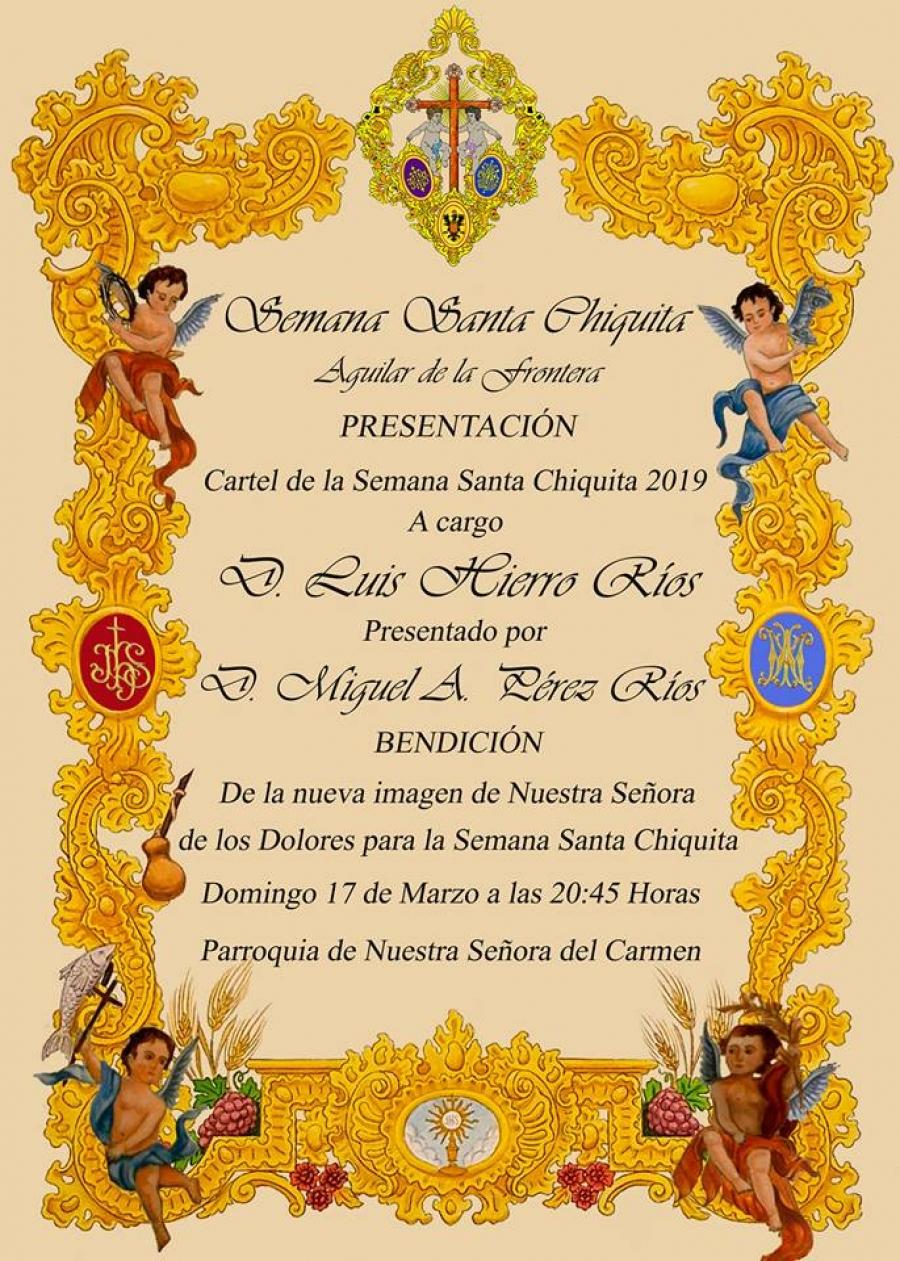 Luis Hierro presentará el cartel de la Semana Santa Chiquita 2019