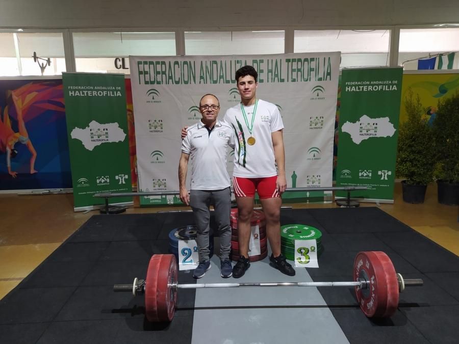 El haltera aguilarense Manuel Jesús Zurera se proclama Campeón de Andalucía Junior