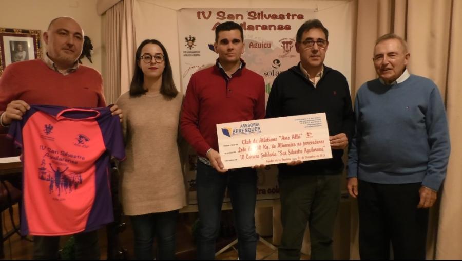 Presentada oficialmente la IV San Silvestre Aguilarense Solidaria