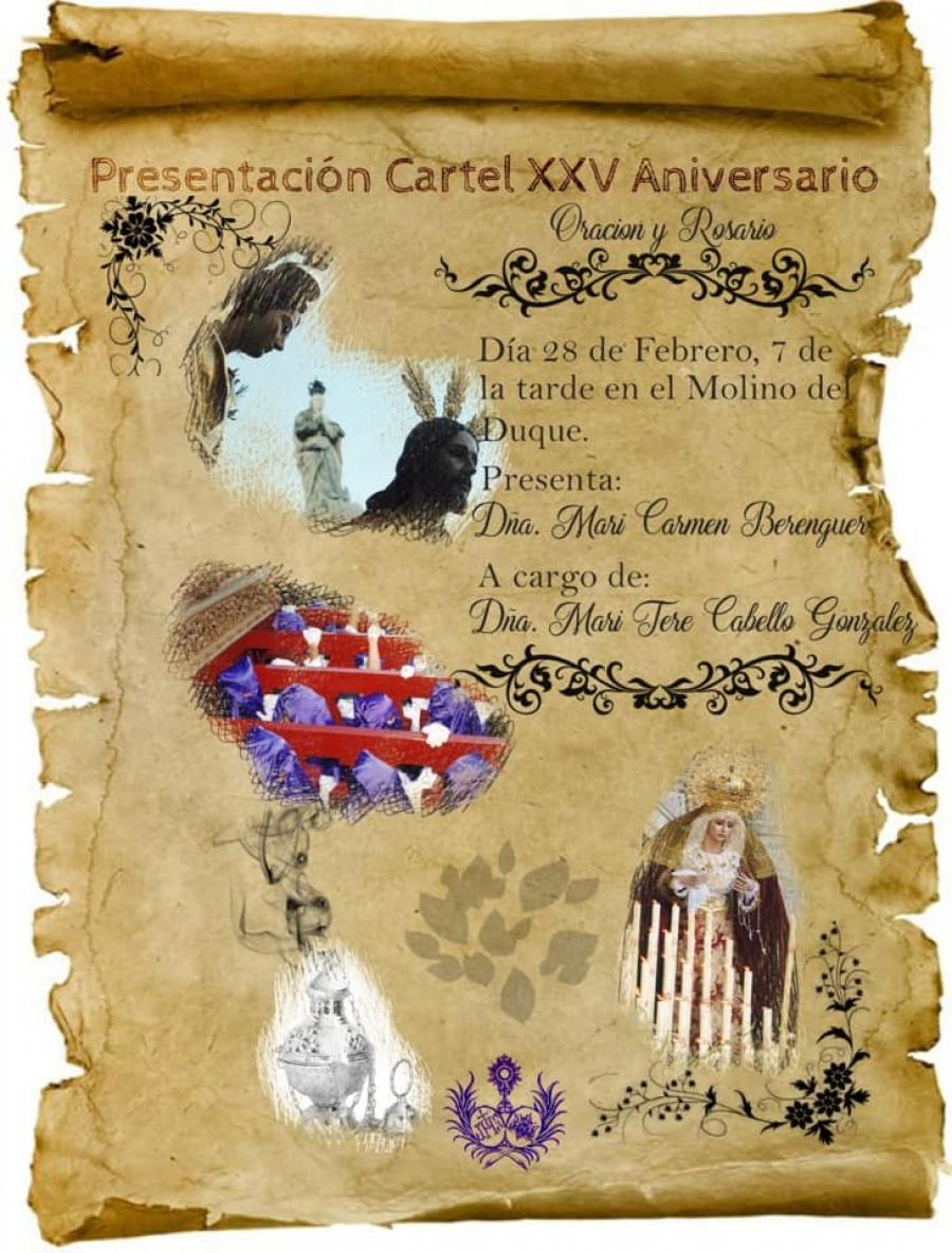Oración y Rosario presenta el cartel conmemorativo de su XXV aniversario