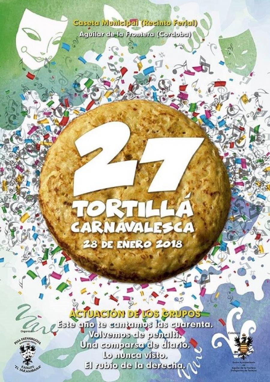 La XXVII Edición de la Tortillá Carnavalesca será el 28 de enero