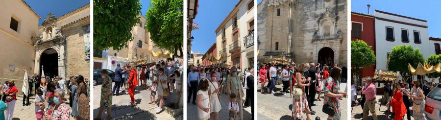 El Corpus Christi, la primera salida procesional durante la pandemia