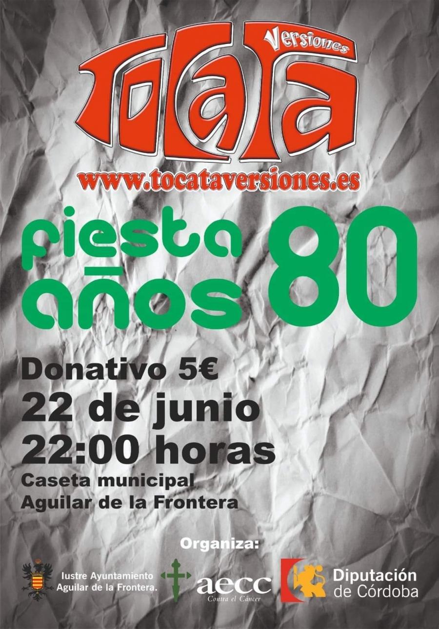 Fiesta de los 80 en favor de la Asociación Española Contra el Cáncer
