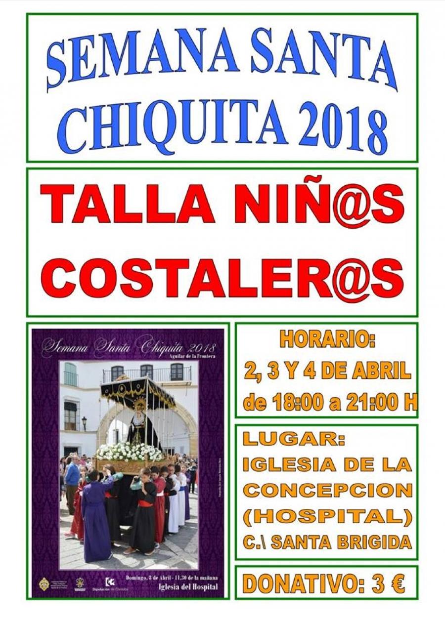 Abierto el plazo para la talla de la Semana Santa Chiquita