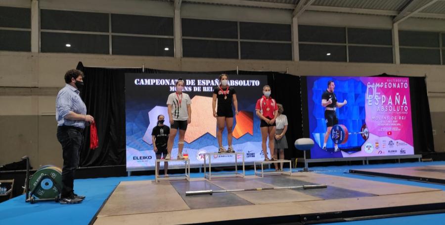 Soledad Palma logra una medalla de plata en el Campeonato de España Absoluto de Halterofilia