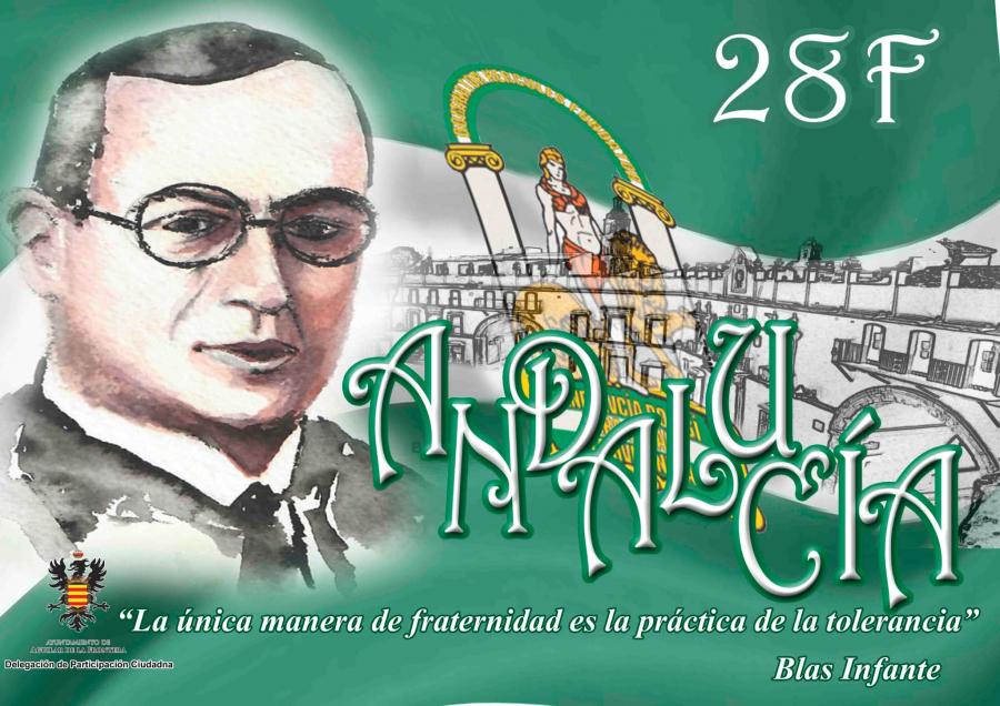 Un sencillo acto servirá para conmemorar el Día de Andalucía en la Plaza de Blas Infante