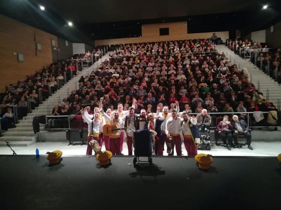 """""""Los Mandamás"""" ofrecen sus coplas en el Centro Cultural Kulturgunea de Tafalla (Navarra)"""