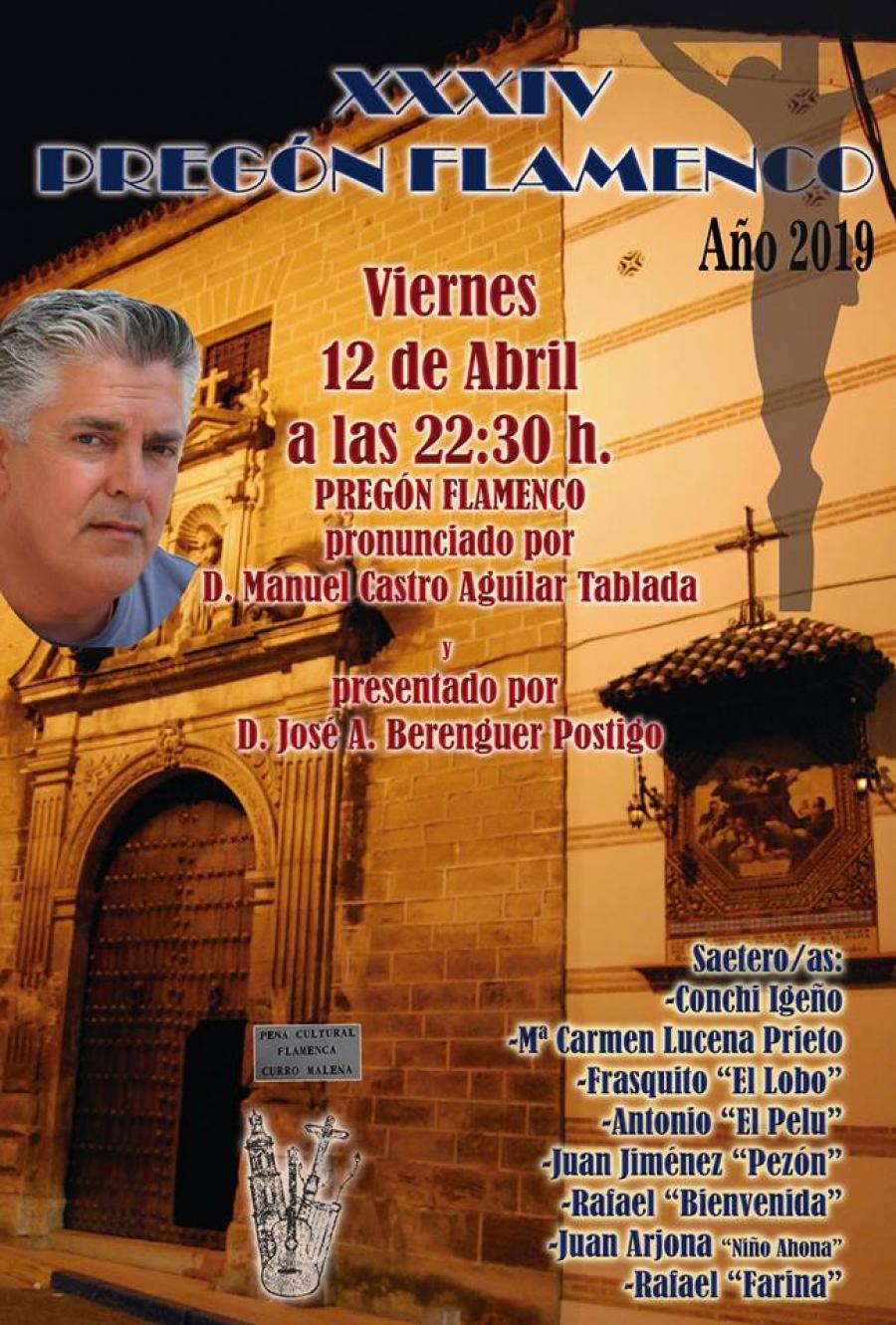 El Pregón Flamenco de Semana Santa estará a cargo de D. Manuel Castro
